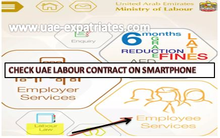 Check UAE Labour Contract on Smartphone