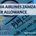 SAUDIA AIRLINES ZAMZAM WATER ALLOWANCE
