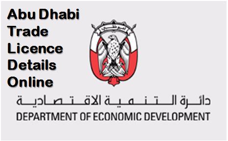 Abu Dhabi Trade Licence Details Online