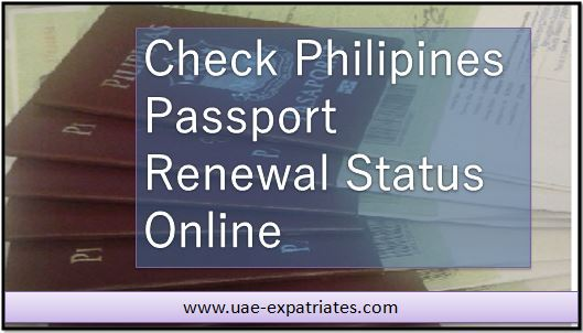 Check Philippine Passport Renewal Application Status