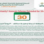 Golden Opportunity! Amnesty Scheme Extended for 30 days