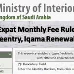 New Expat Monthly Fee Rules for Exit Reentry, Iqama Renewal