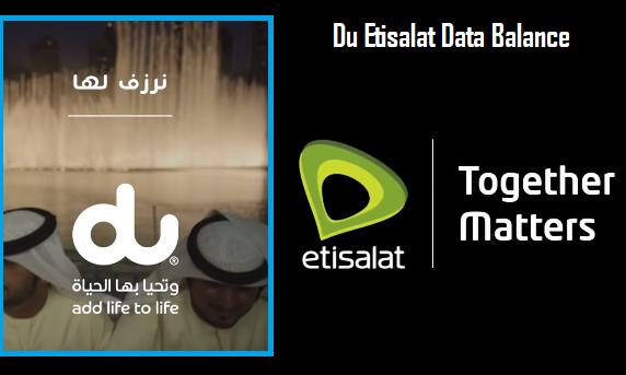 How to Check Remaining Du Etisalat Data Balance
