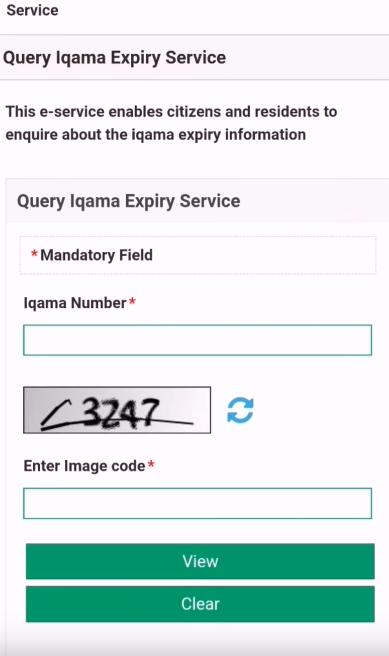 Date expiry iqama