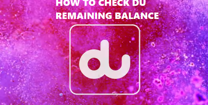 Du Prepaid Balance Check Dial Code Number