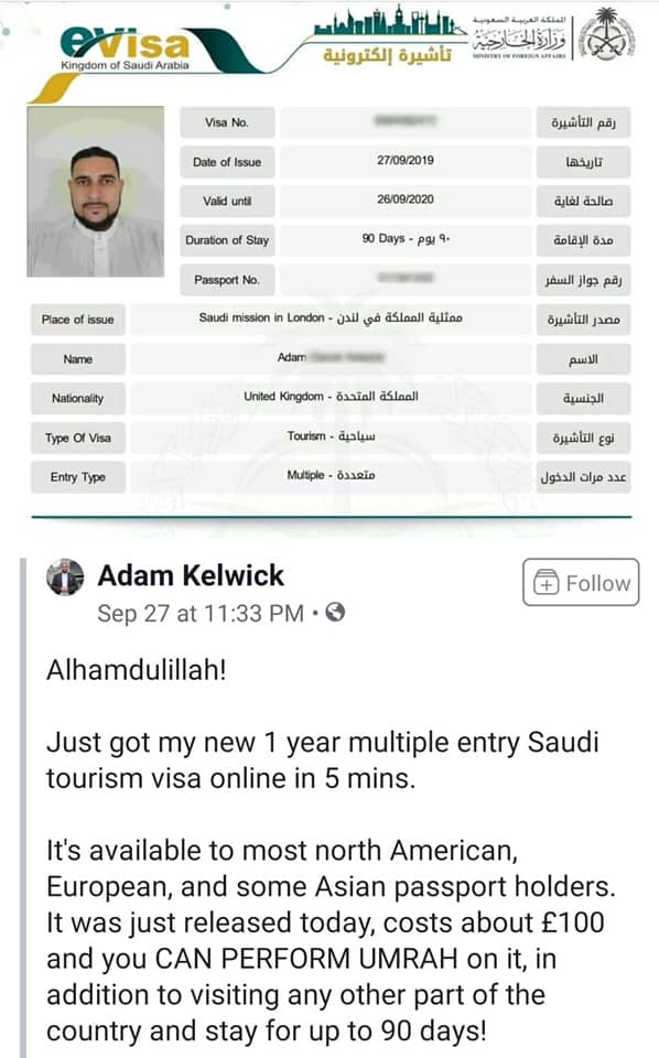 saudi tourist visit visa
