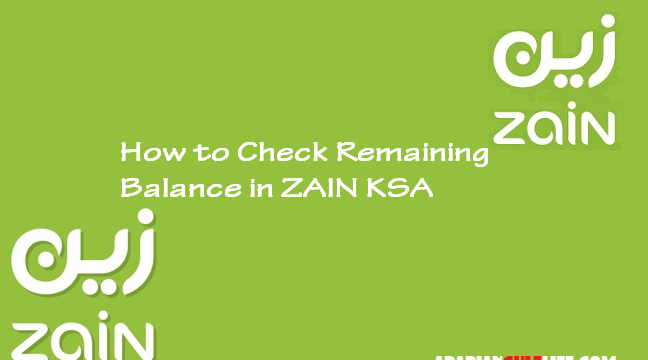 How to Check Zain KSA Remaining Balance